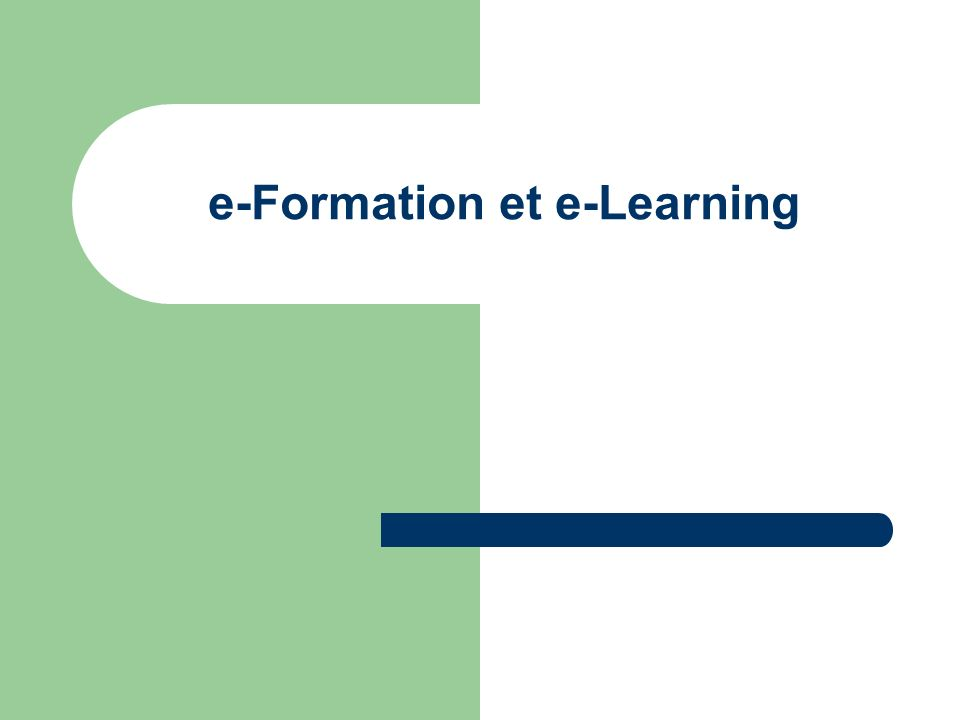 e-Formation et e-Learning
