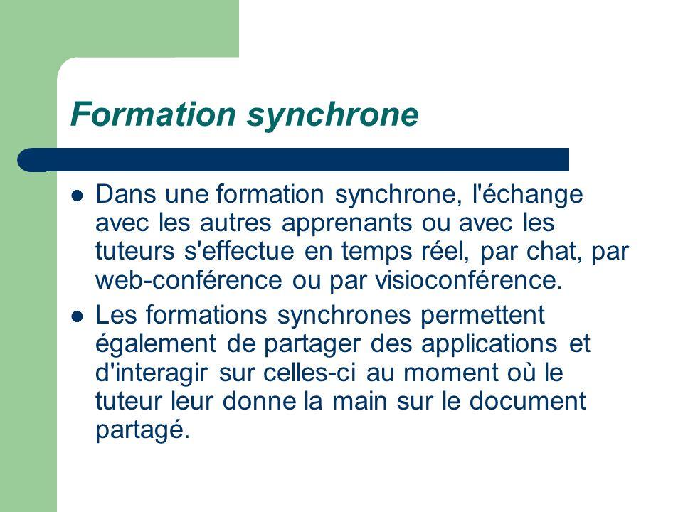 Formation synchrone