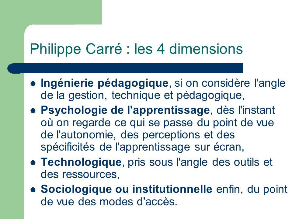 Philippe Carré : les 4 dimensions