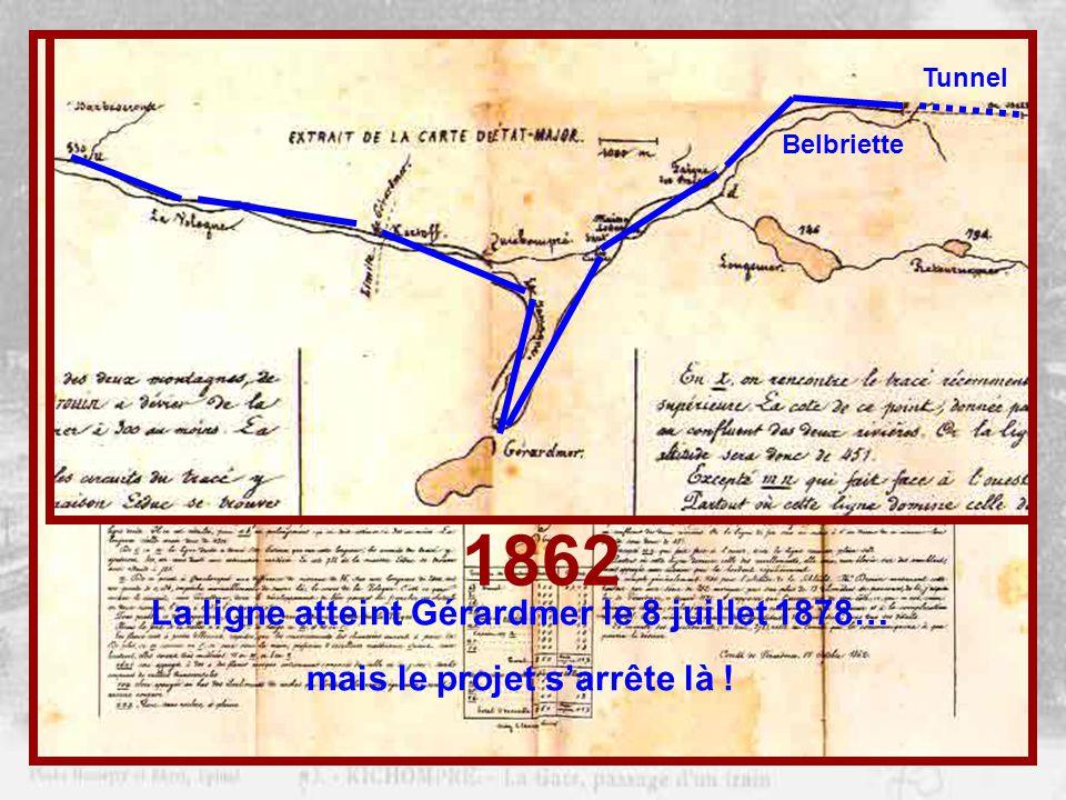 1862 Mais… Projet de la ligne ÉPINAL – COLMAR