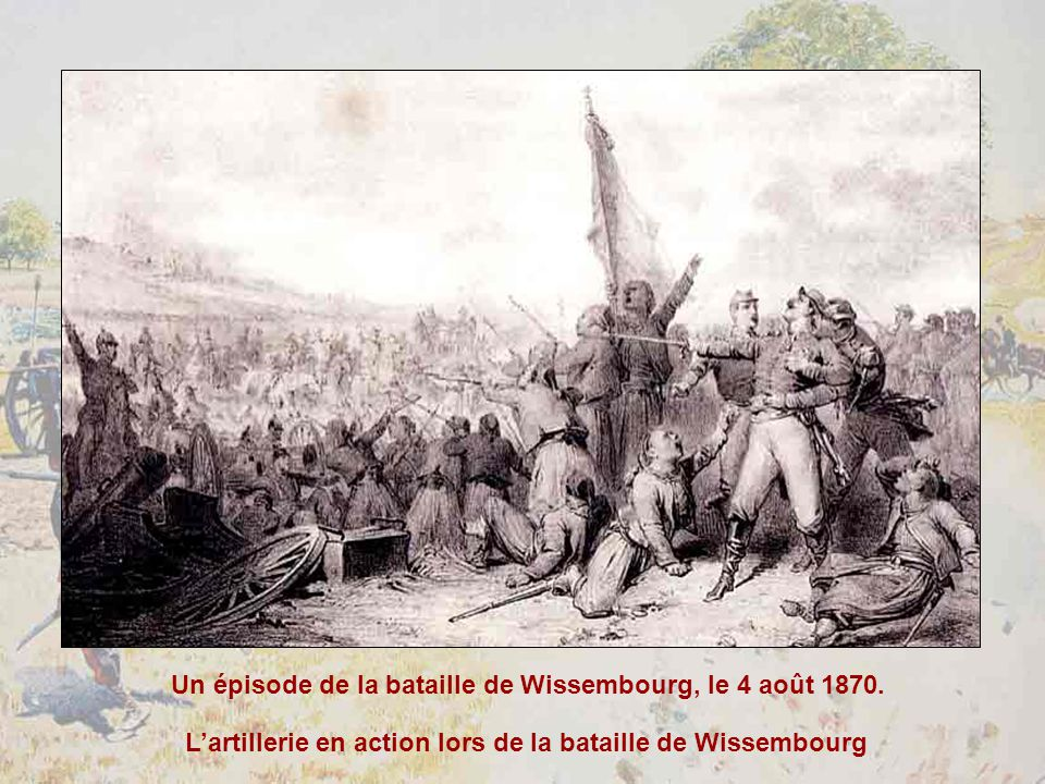 L'artillerie en action lors de la bataille de Wissembourg