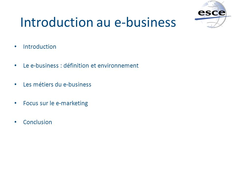 Introduction au e-business