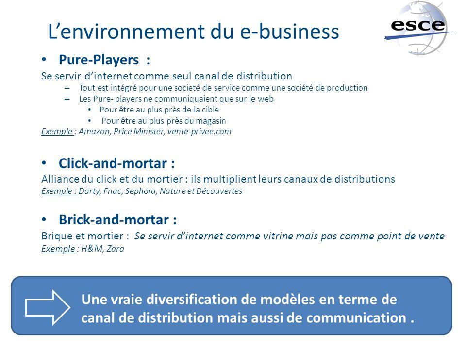 L'environnement du e-business