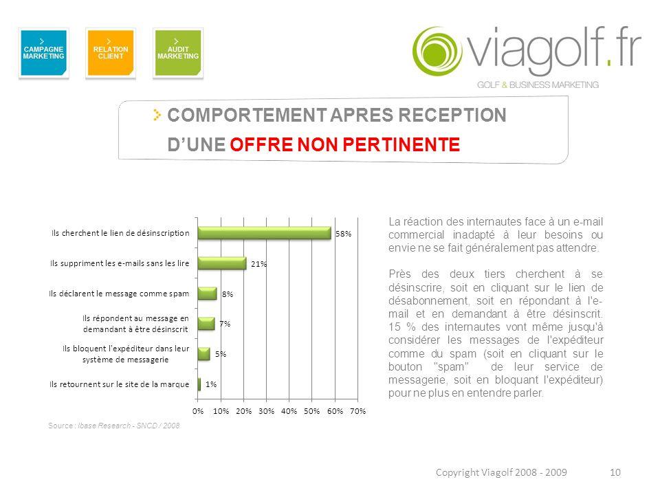 COMPORTEMENT APRES RECEPTION D'UNE OFFRE NON PERTINENTE