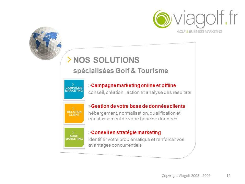 spécialisées Golf & Tourisme