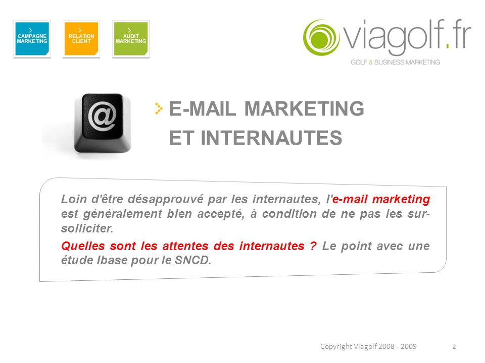 E-MAIL MARKETING ET INTERNAUTES