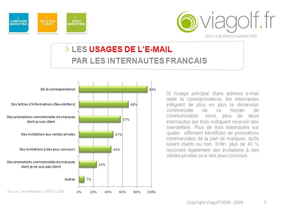 LES USAGES DE L'E-MAIL PAR LES INTERNAUTES FRANCAIS