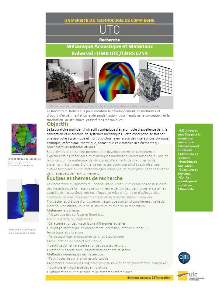 Mécanique Acoustique et Matériaux Roberval - UMR UTC/CNRS 6253