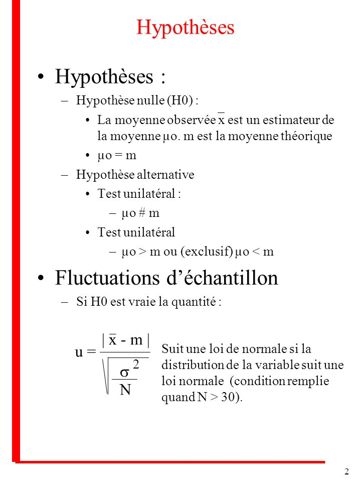 Fluctuations d'échantillon