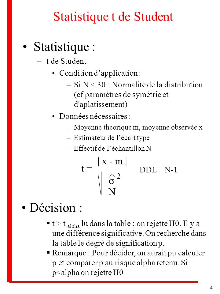 Statistique t de Student