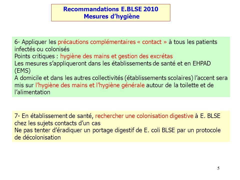 Recommandations E.BLSE 2010