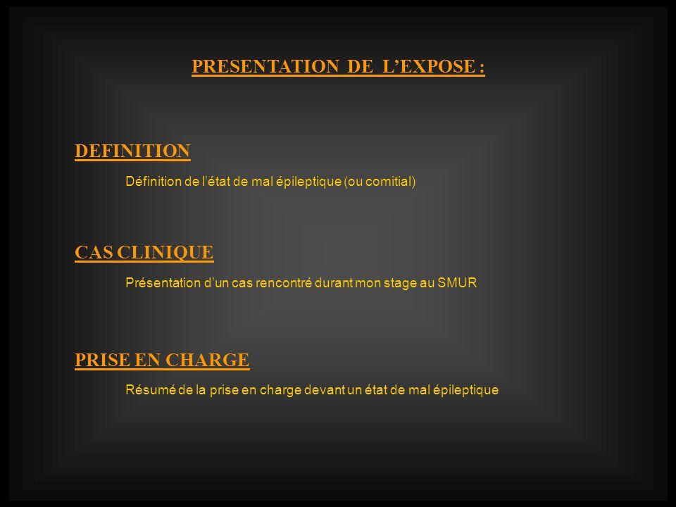 PRESENTATION DE L'EXPOSE :