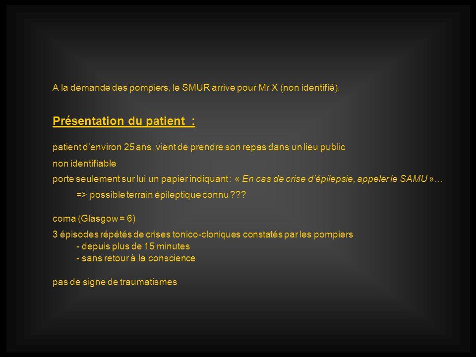 Présentation du patient :