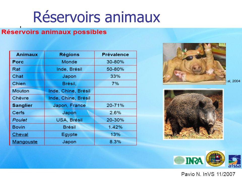 Réservoirs animaux Pavio N. InVS 11/2007