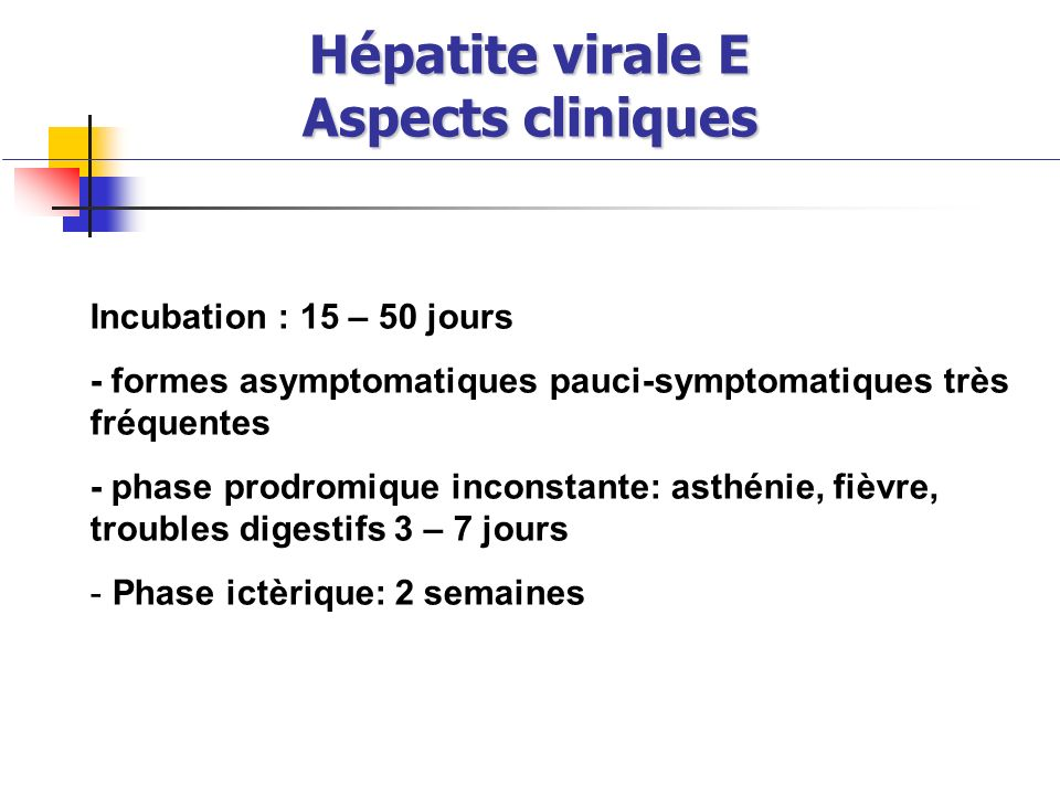 Hépatite virale E Aspects cliniques