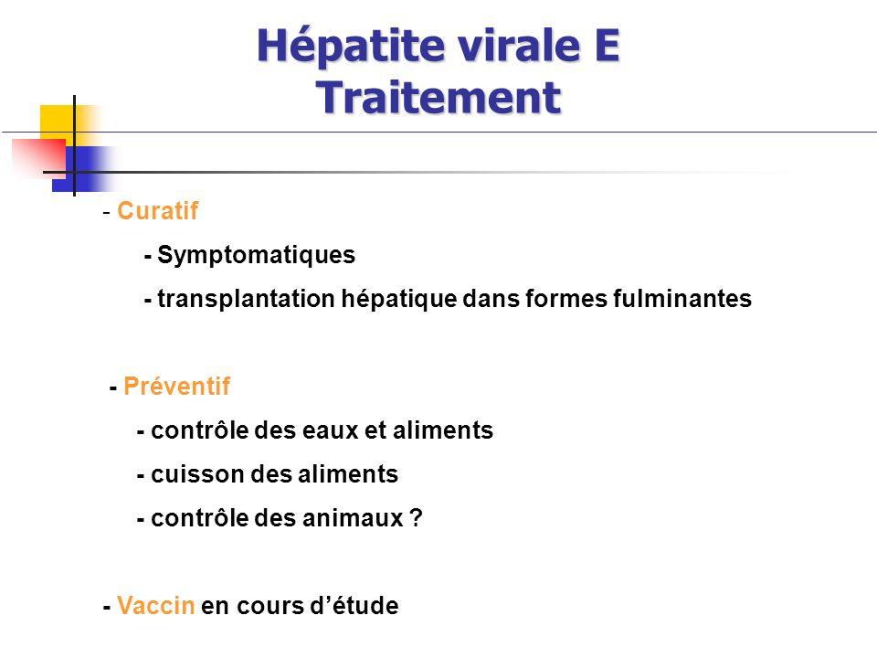 Hépatite virale E Traitement