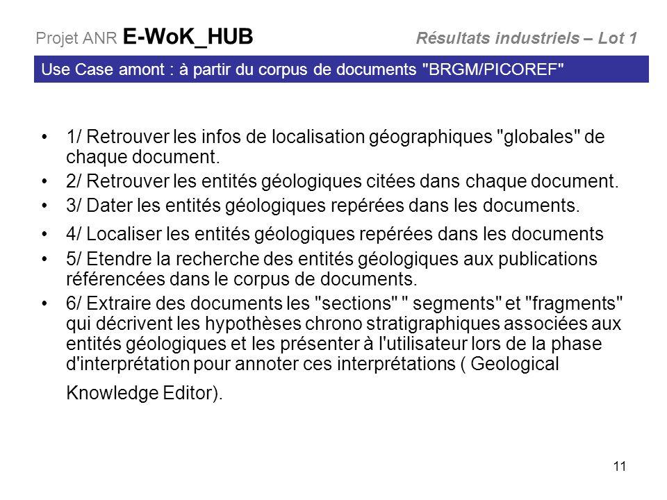 2/ Retrouver les entités géologiques citées dans chaque document.