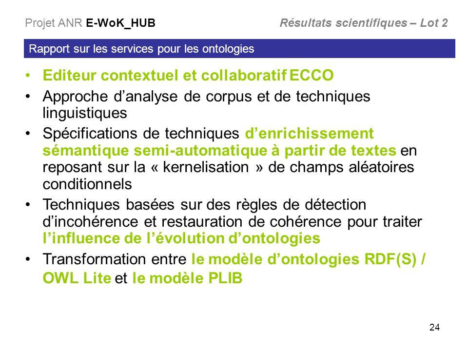 Editeur contextuel et collaboratif ECCO