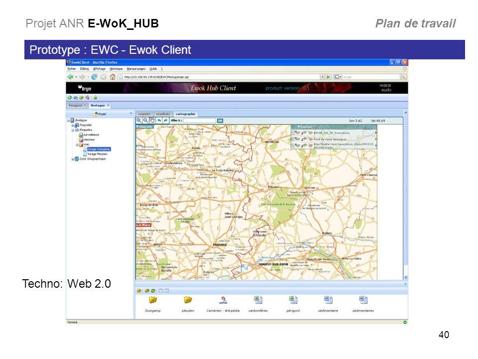 Projet ANR E-WoK_HUB Plan de travail
