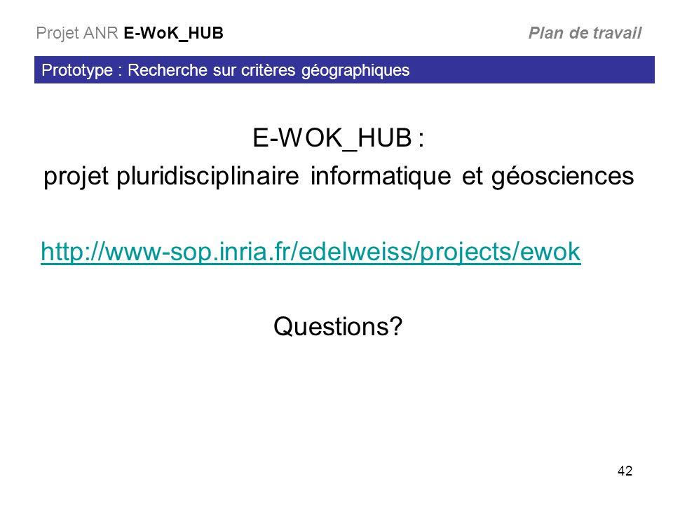 projet pluridisciplinaire informatique et géosciences
