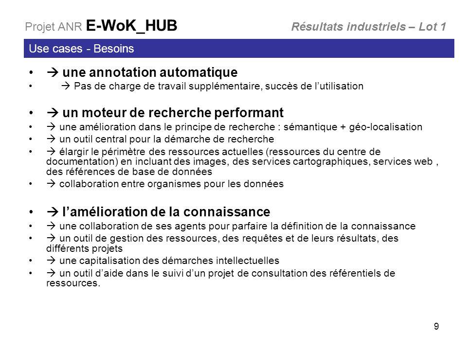  une annotation automatique  un moteur de recherche performant