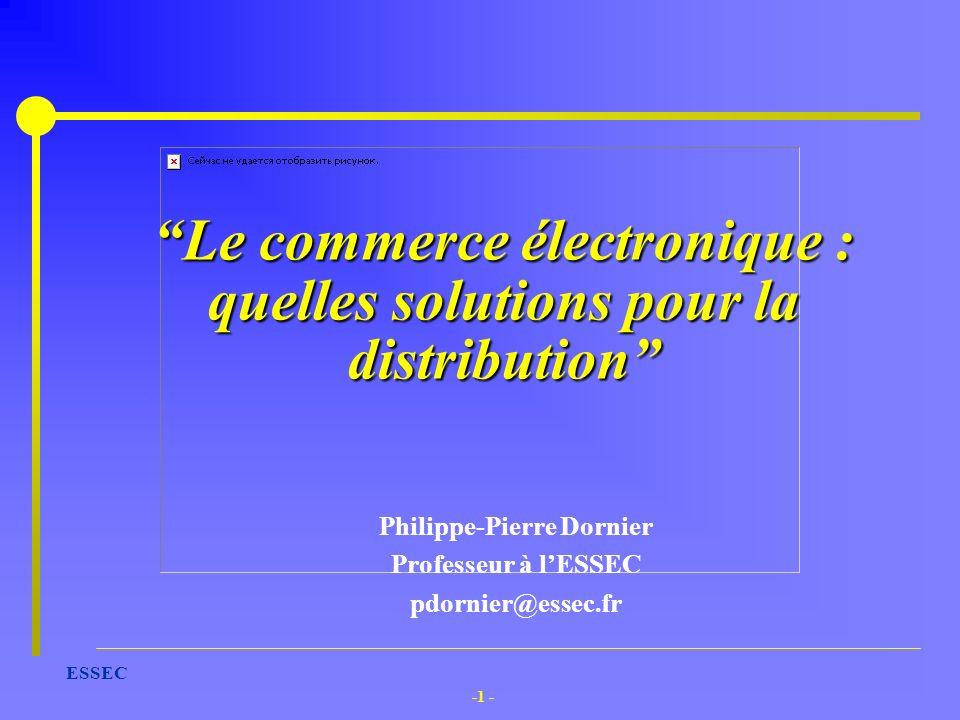 Le commerce électronique : quelles solutions pour la distribution