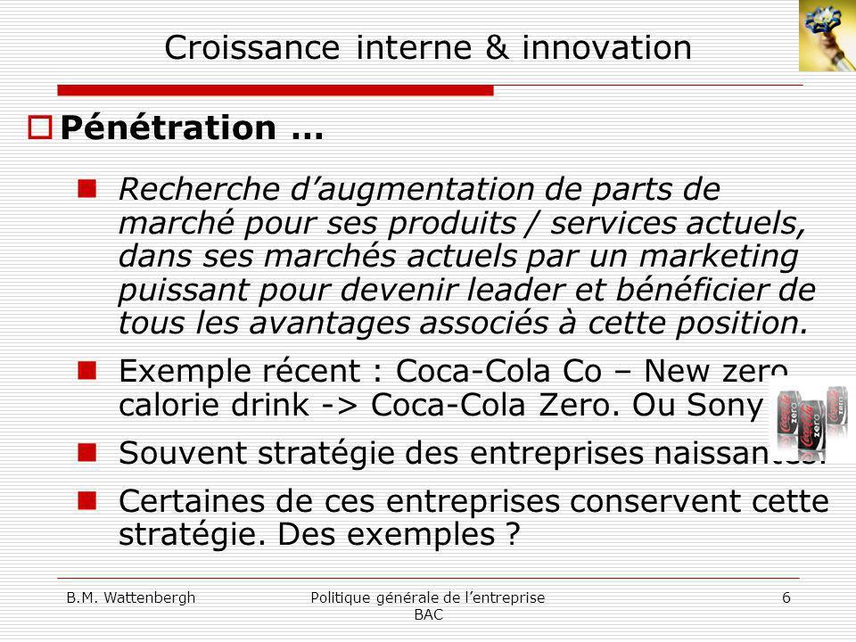 Croissance interne & innovation