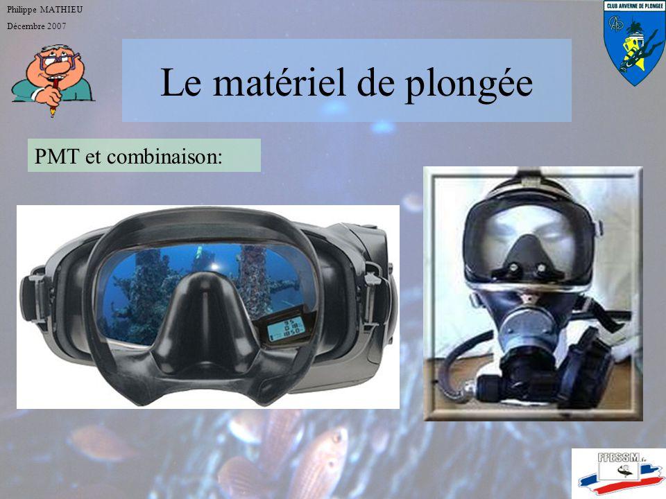 Le matériel de plongée PMT et combinaison: Philippe MATHIEU