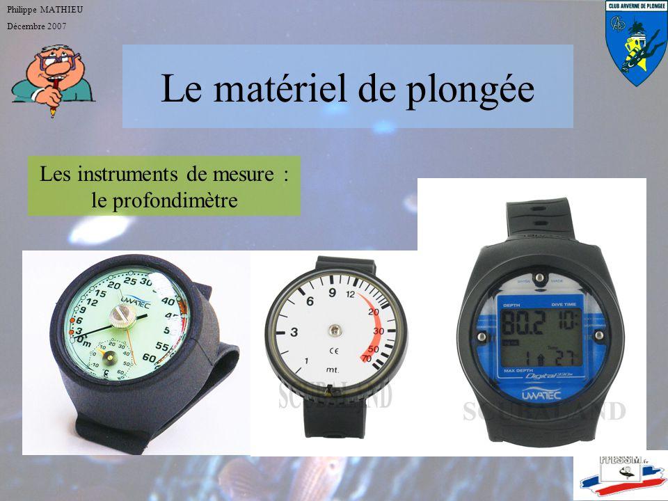 Les instruments de mesure : le profondimètre