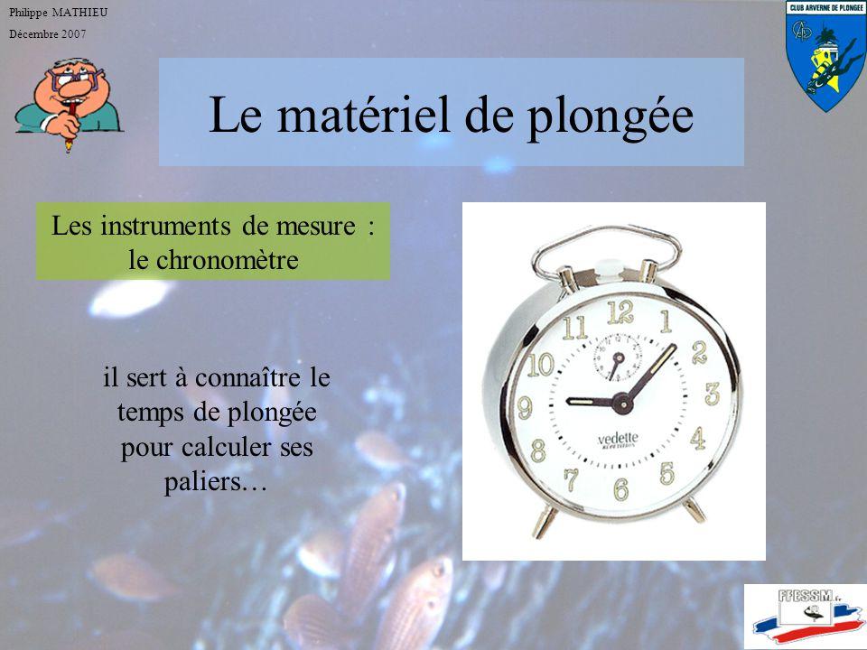 Le matériel de plongée Les instruments de mesure : le chronomètre