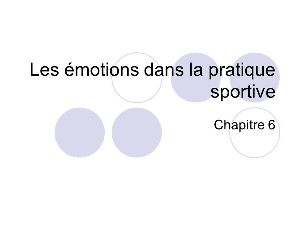 Les émotions dans la pratique sportive