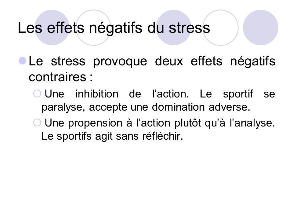 Les effets négatifs du stress