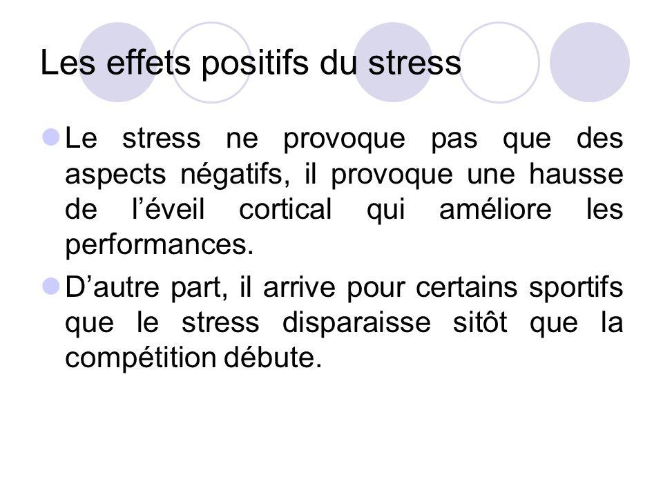 Les effets positifs du stress