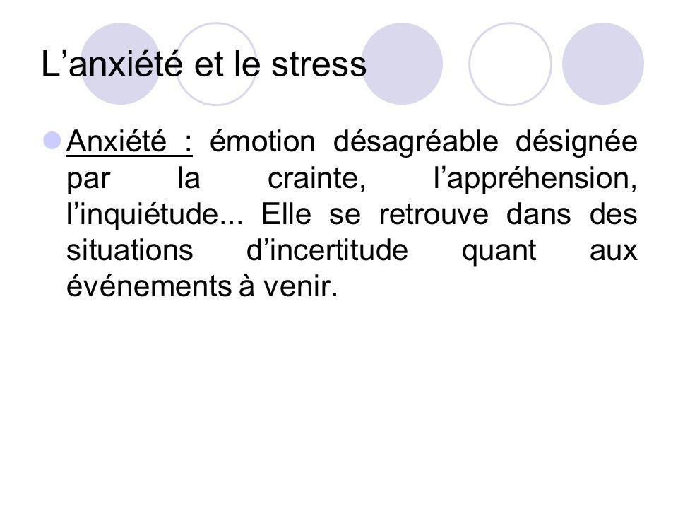 L'anxiété et le stress