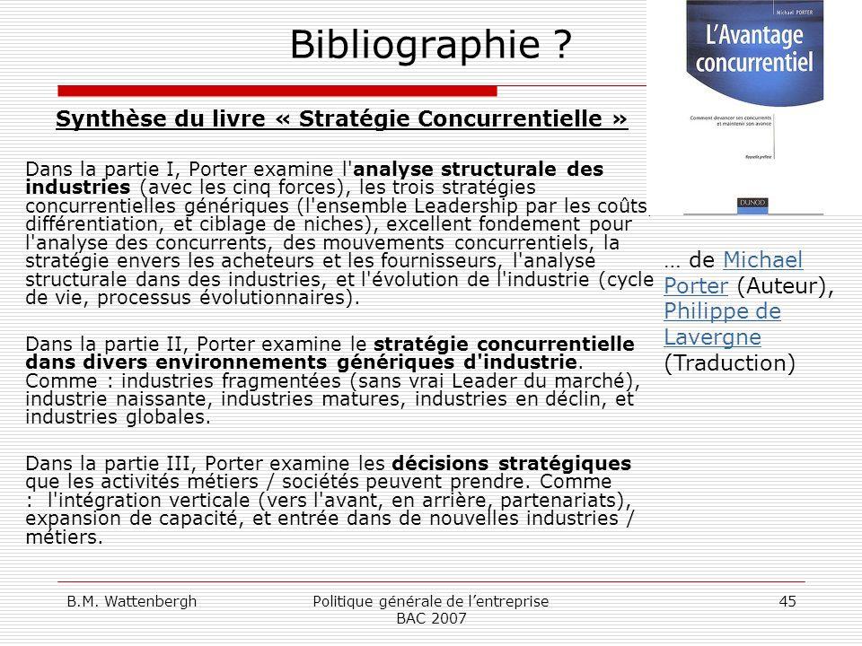 Synthèse du livre « Stratégie Concurrentielle »