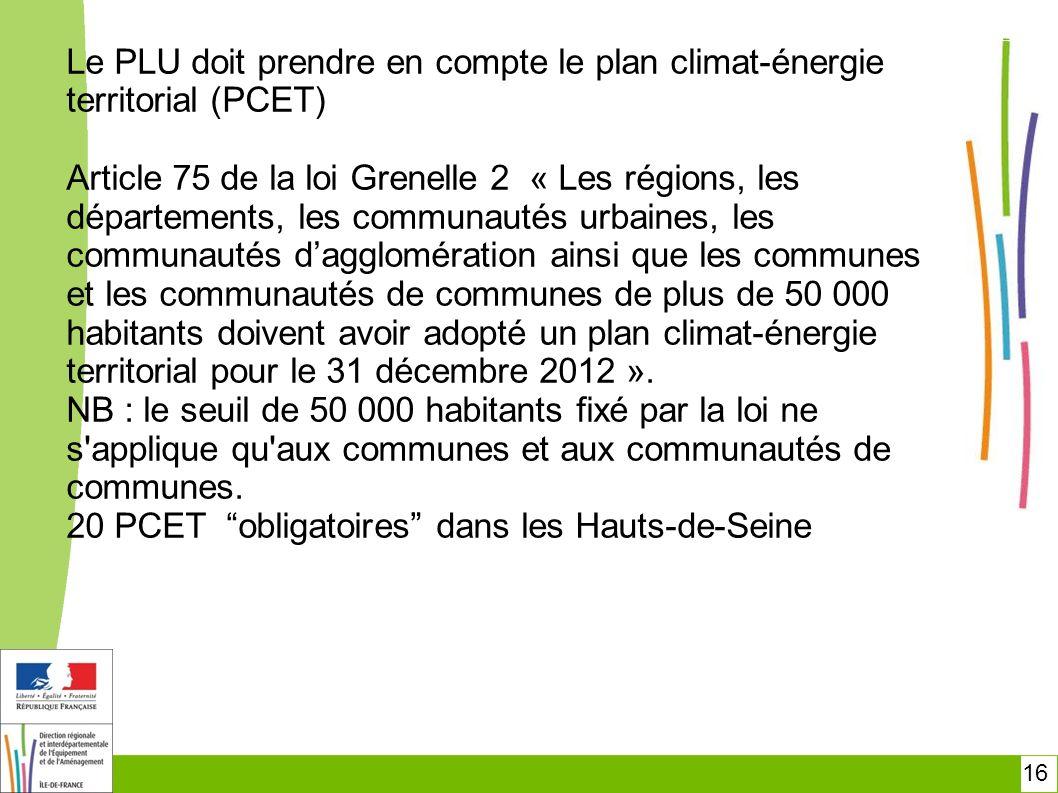 20 PCET obligatoires dans les Hauts-de-Seine