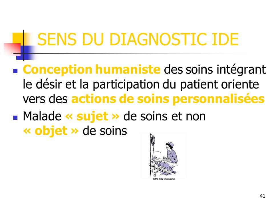SENS DU DIAGNOSTIC IDE