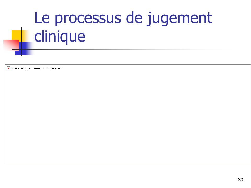 Le processus de jugement clinique