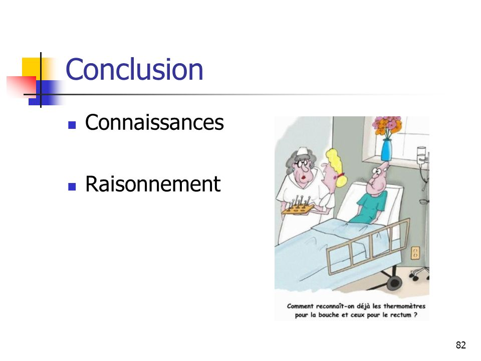 Conclusion Connaissances Raisonnement