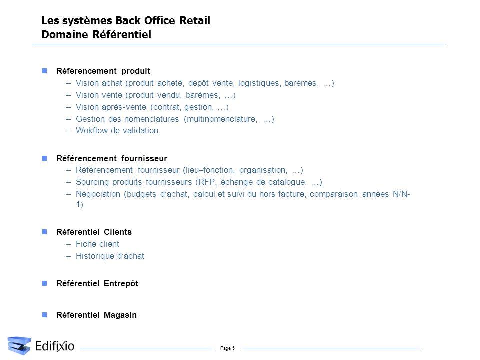 Les systèmes Back Office Retail Domaine Référentiel