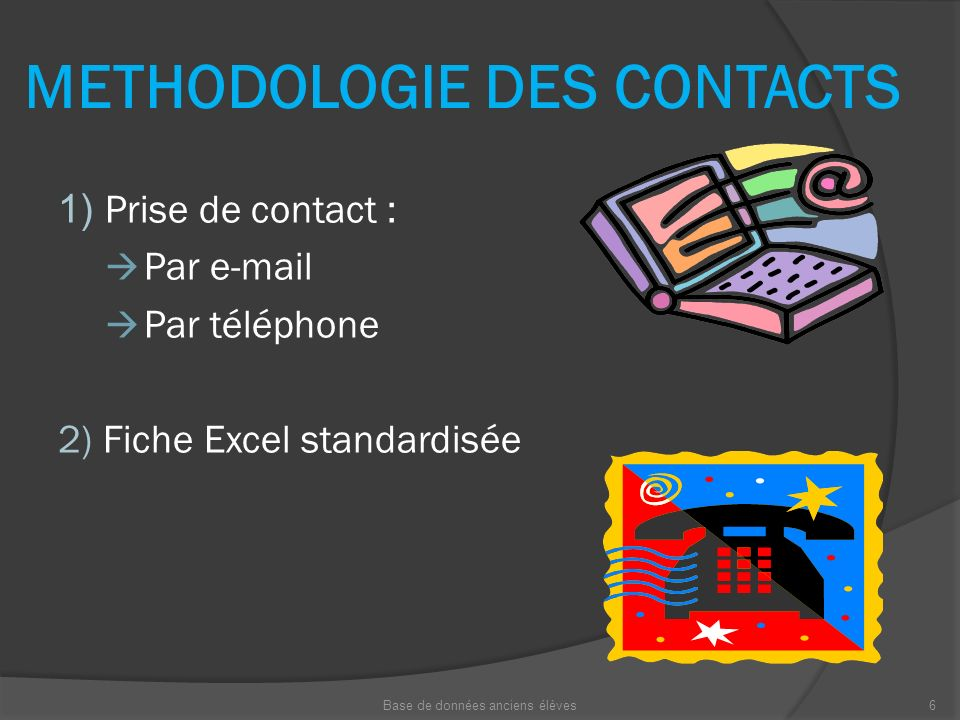 METHODOLOGIE DES CONTACTS