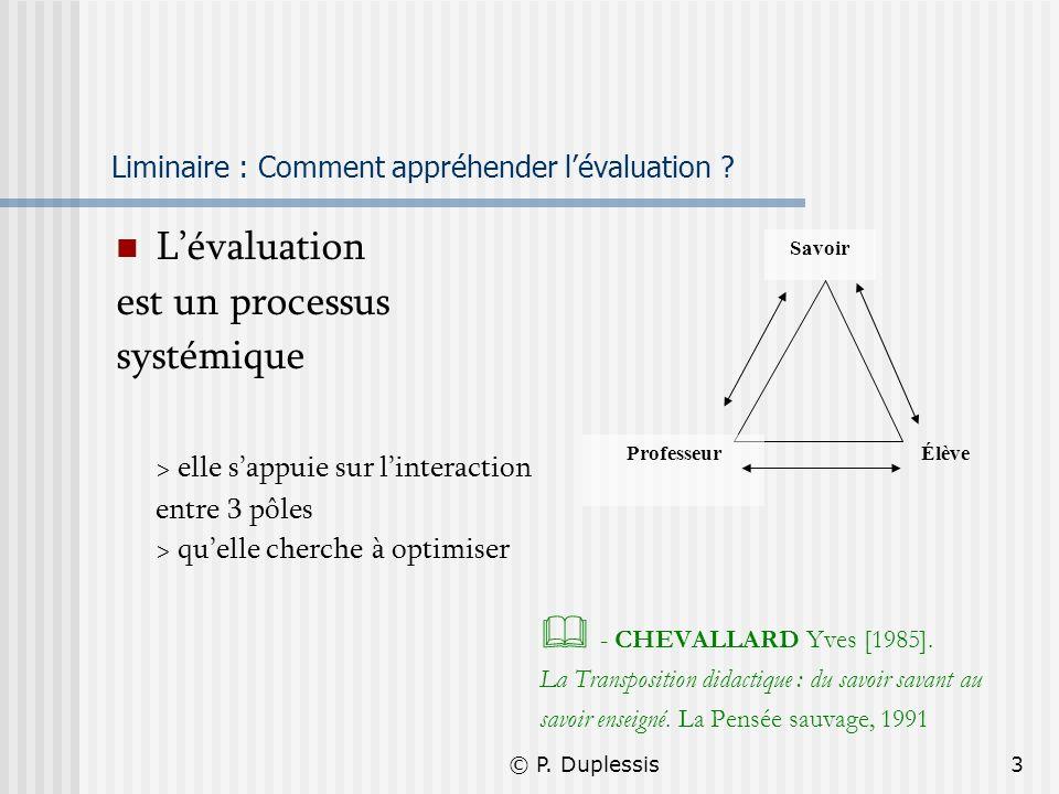 Liminaire : Comment appréhender l'évaluation