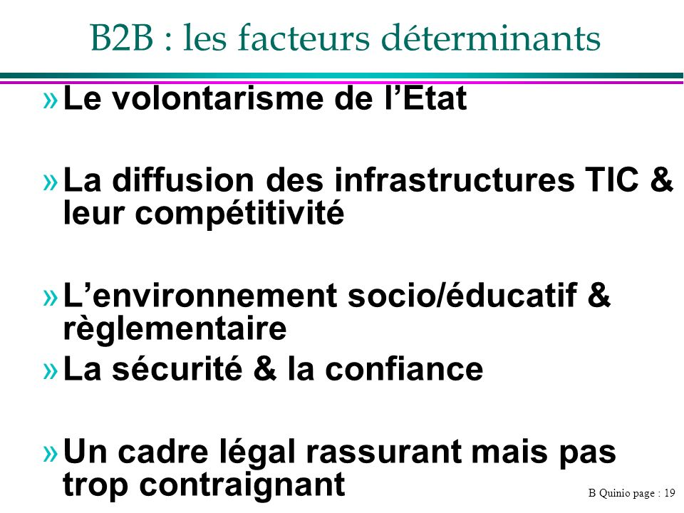 B2B : les facteurs déterminants