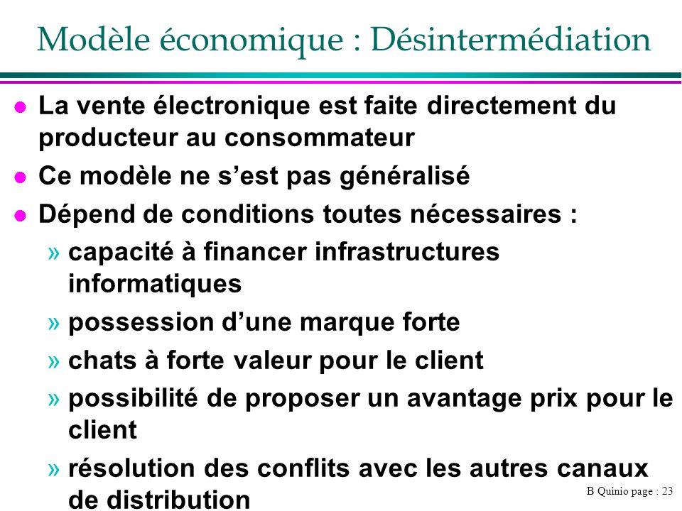 Modèle économique : Désintermédiation