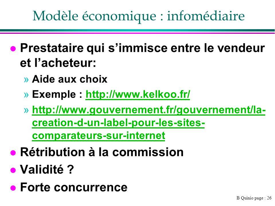 Modèle économique : infomédiaire