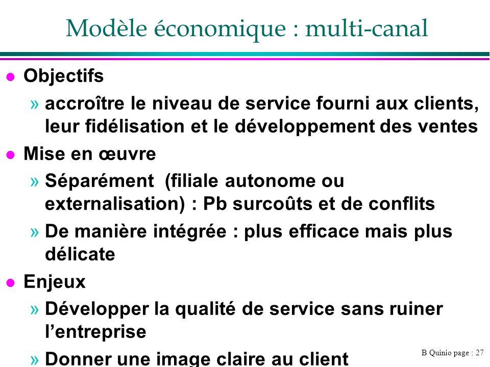Modèle économique : multi-canal