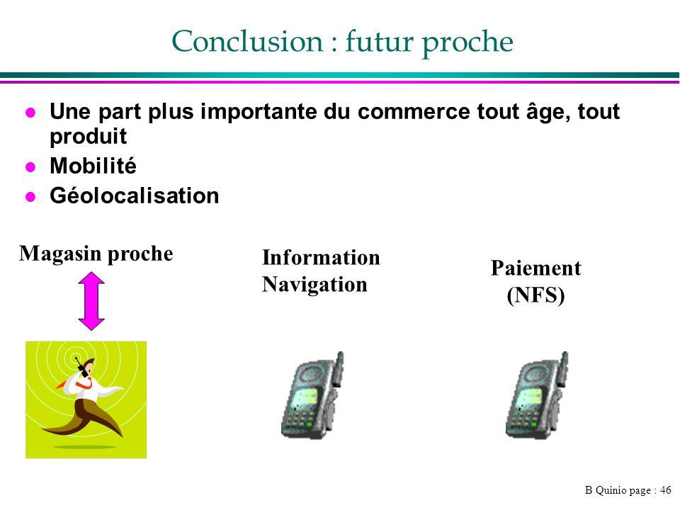 Conclusion : futur proche