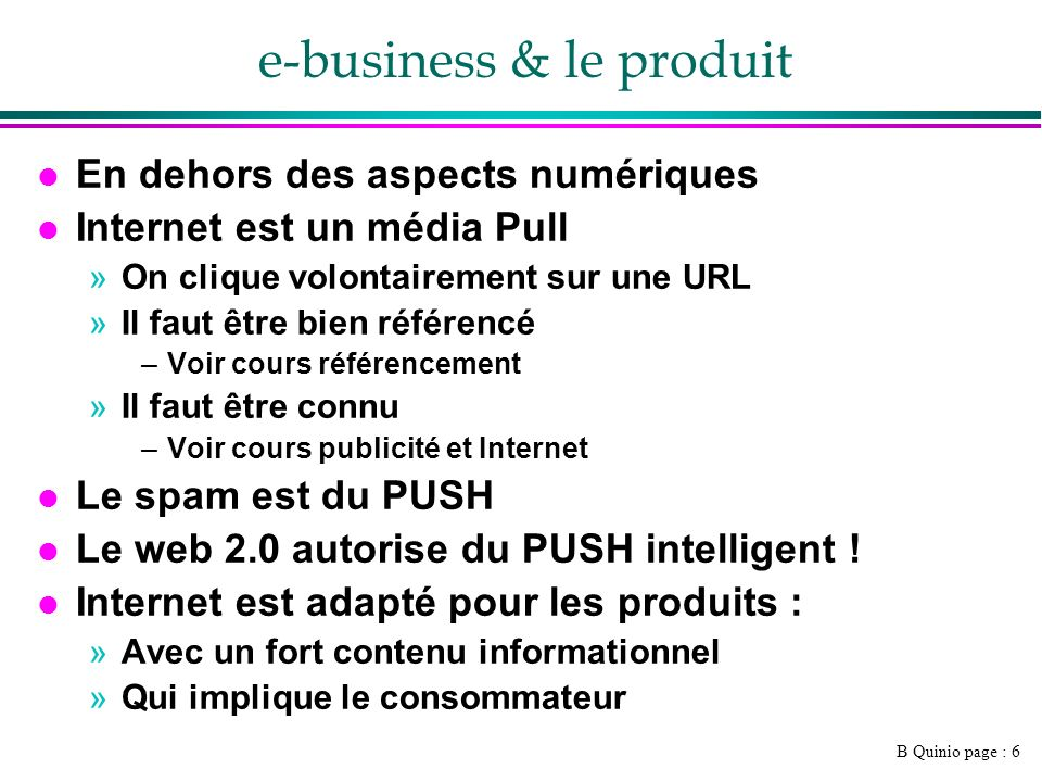 e-business & le produit
