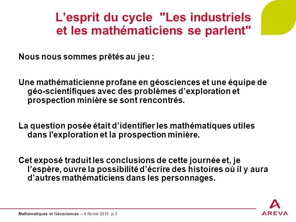 L'esprit du cycle Les industriels et les mathématiciens se parlent