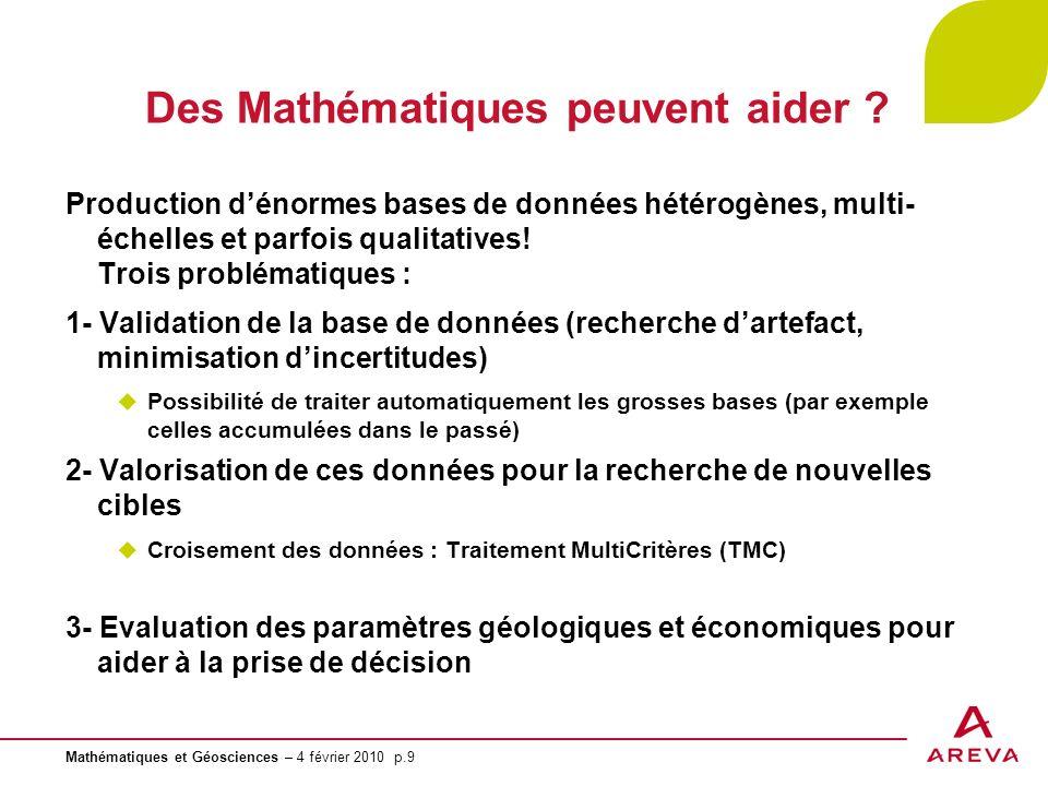 Des Mathématiques peuvent aider